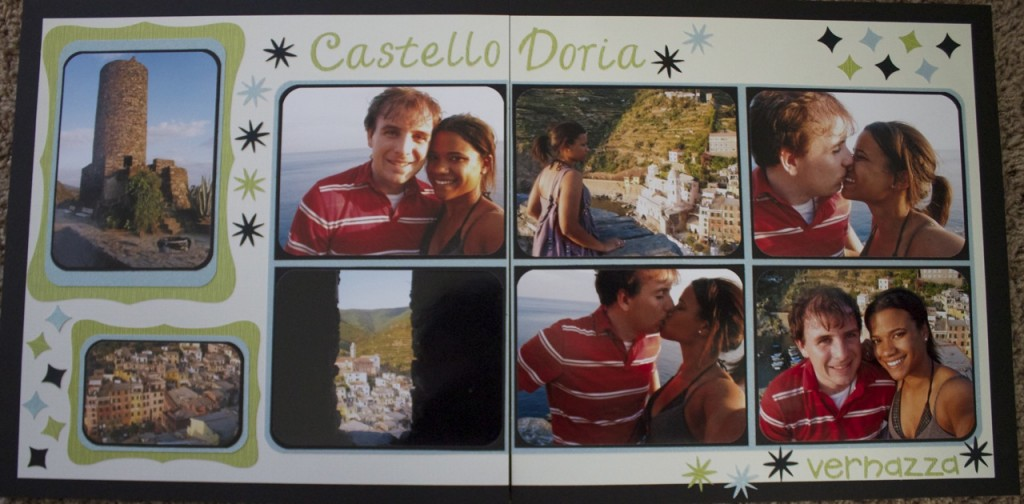 scrapbook layout castello doria vernazza cinque terre italy europe scrapbooking travel ideas