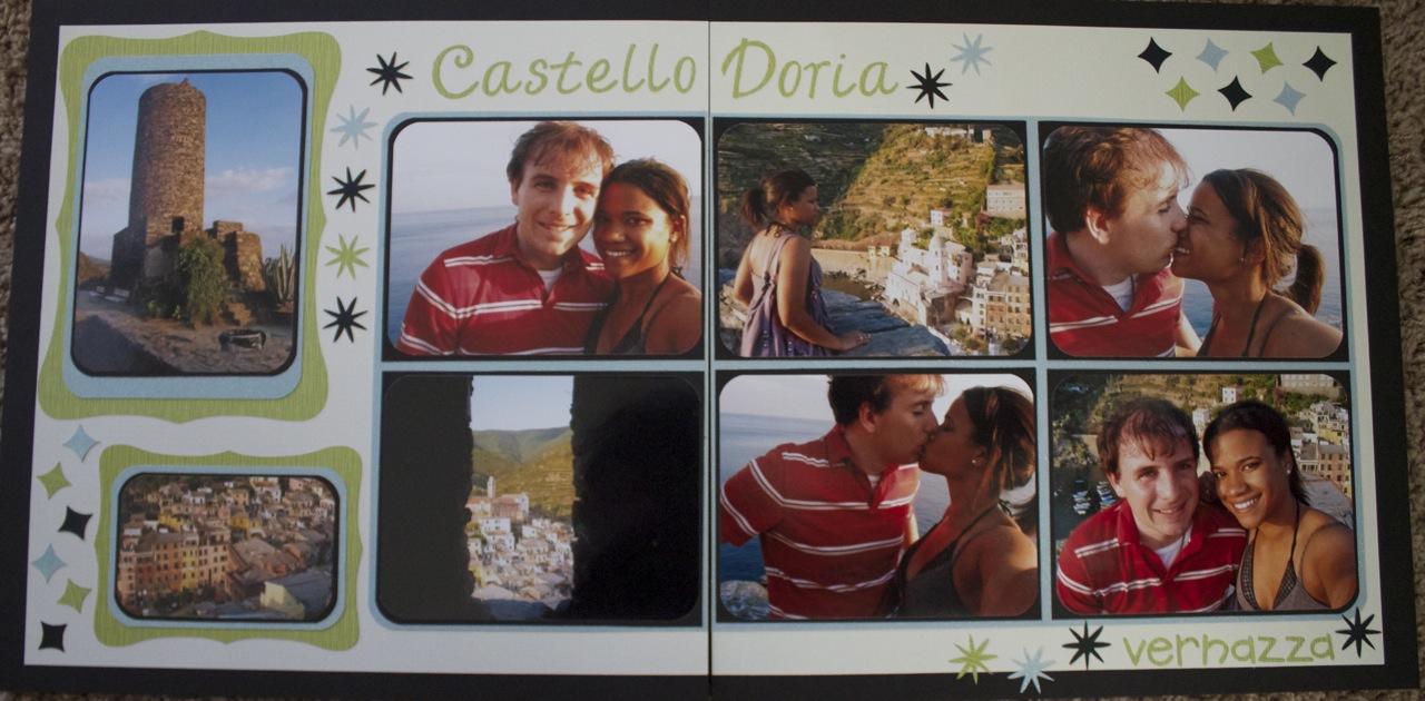 Europe scrapbook ideas - Scrapbook Layout Castello Doria Vernazza Cinque Terre Italy Europe Scrapbooking Travel Ideas