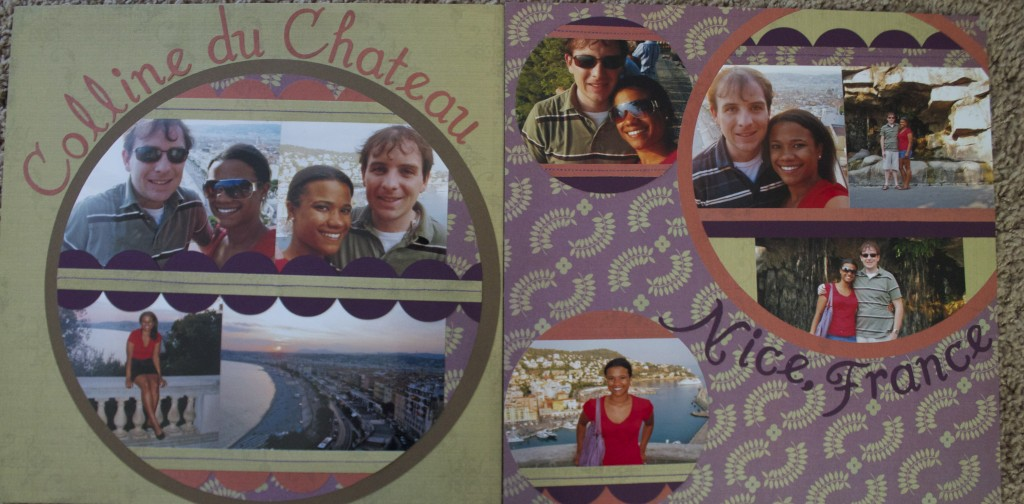 scrapbook layout colline du chateau nice france europe scrapbooking travel ideas
