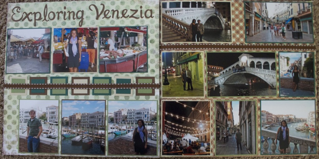 scrapbook layout exploring venezia venice italy europe scrapbooking travel ideas