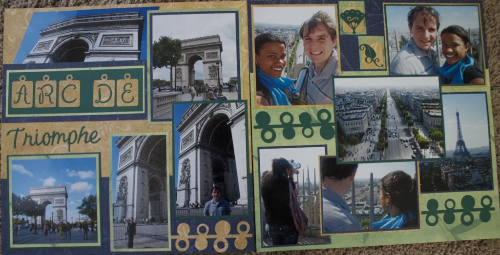 scrapbook layout arc de triomph paris france europe scrapbooking travel ideas