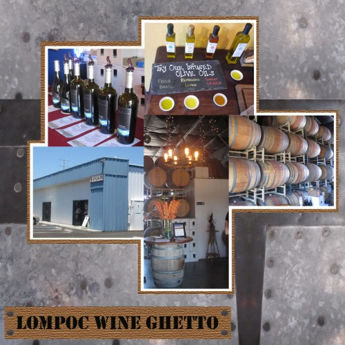 SuitcaseJournal: Lompoc Wine Ghetto, Santa Ynez Valley Wine Tasting Digital Scrapbook Layout Idea by Kristin