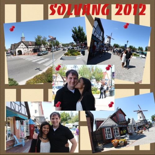 SuitcaseJournal: Downtown Solvang Digital Scrapbook Layout Idea by Kristin