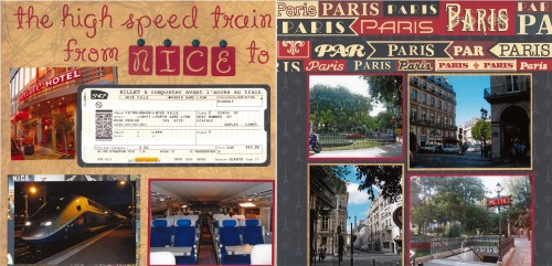 Nice to Paris, France, Scrapbook