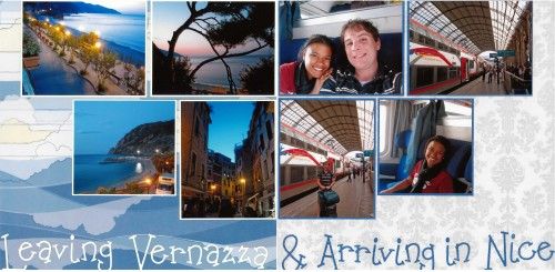 Vernazza to Nice, Italy, France, Scrapbook