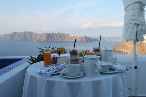 Breakfast, Ikies, Santorini, Greece