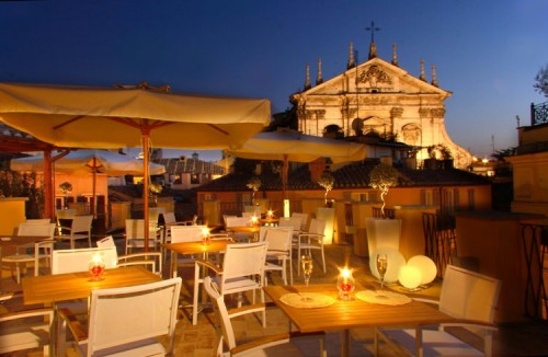 Rooftop Terrace, Albergo Cesari, Rome, Italy