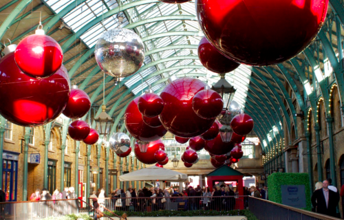 Covent Garden during the holidays