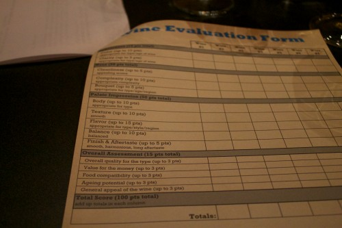 Wine Evaluation Form